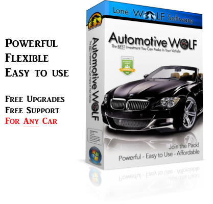 Automotive Wolf Car Care Software Product Box